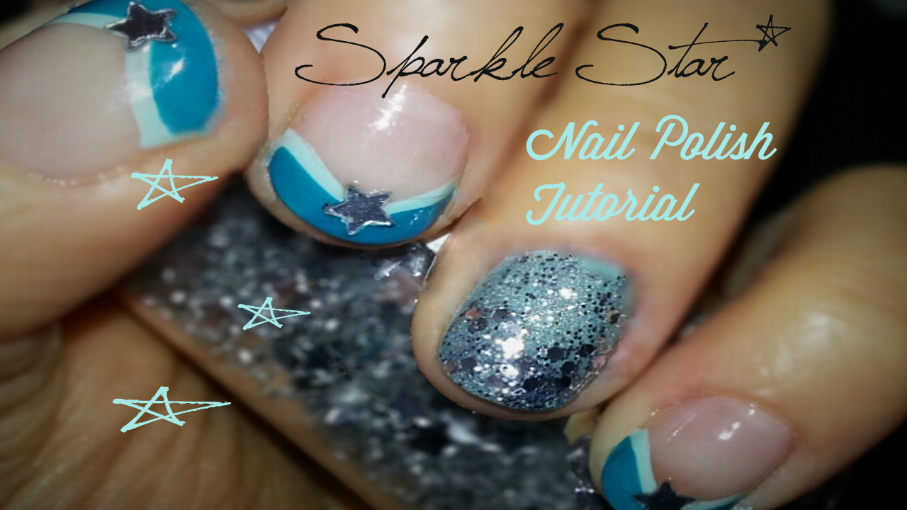 sparkle star nail tutorial